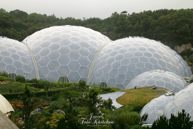 Eden Project  bei Bodelva in Cornwall